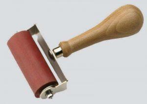 rodillo goma pegado fibra de carbono